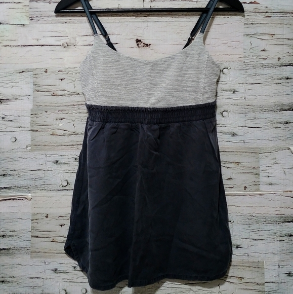 🍂Lululemon Bliss Tank Coal Gray Striped SZ6